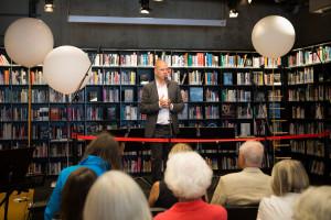 Benny Fredriksson invigninig -nya-biblioteket 2017. Foto Matilda Rahm