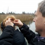 Fiskedrag fastnar i Åsa Blancks huvud