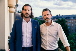 Jens Lapidus och ASAP Rockys advokat Slobodan Jovicic. Stockholm. Foto: Johan Palmgren.