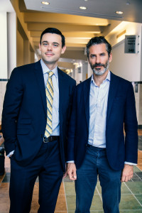 Jens Lapidus och advokat David Hammond. Syracuse, USA. Foto: Johan Palmgren.
