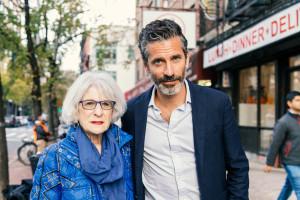 Jens Lapidus och advokat Nancy Hollander. New York. Foto: Johan Palmgren.