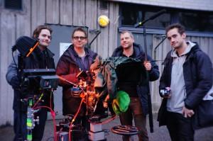 Team photo: Johan Viberg, Anders Bohman, Johan Palmgren, Mårten Stenberg